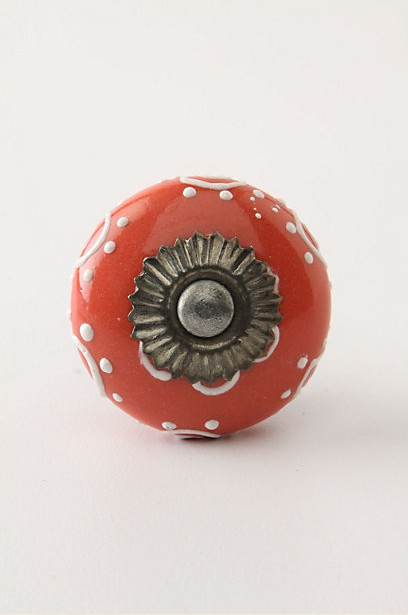 Sunflower Medallion Knob, Coral eclectic knobs