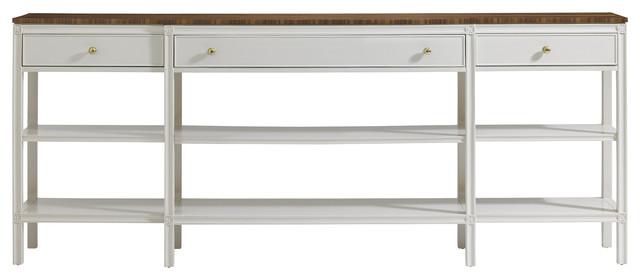 Charleston Regency Carolina Sofa Table - Ropemaker's White Finish traditional-console-tables