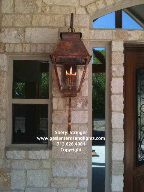 Hill Country Style Home With Gas Lanterns Traditional Houston By Sheryl