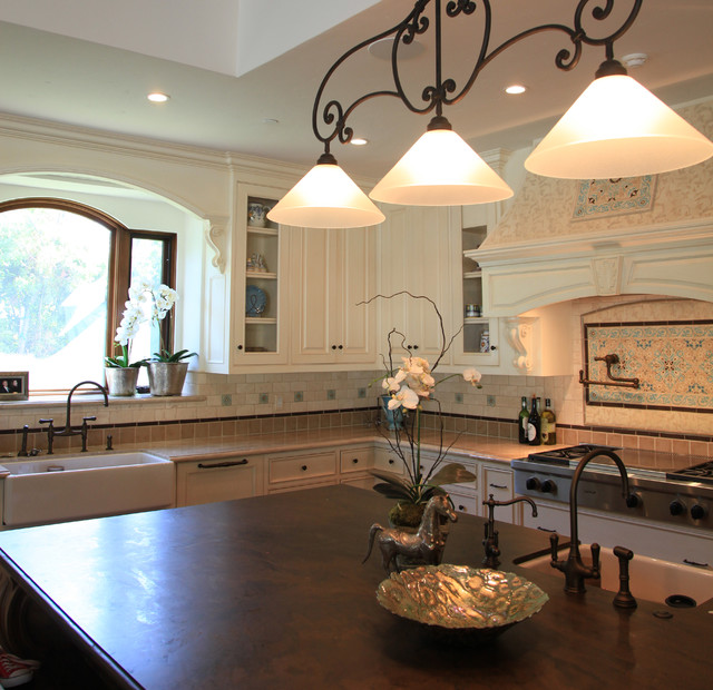 spanish santa barbara style kitchen traditional