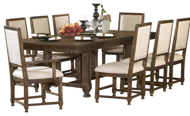 ardenwood 9 piece leg table dining room set traditional dining sets