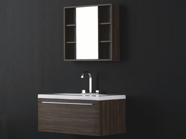 """36.25"""" Juneau Single Wall-Mounted Vanity modern-bathroom-vanities-and-sink-consoles"""