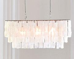 Large Rectangle Hanging Capiz Pendant beach-style-pendant-lighting