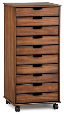 Mobile 10-Drawer Storage Cart - Contemporary - Storage Cabinets - by ...
