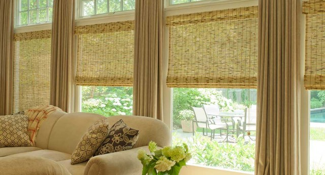 Natural Roman Shades traditional roman blinds