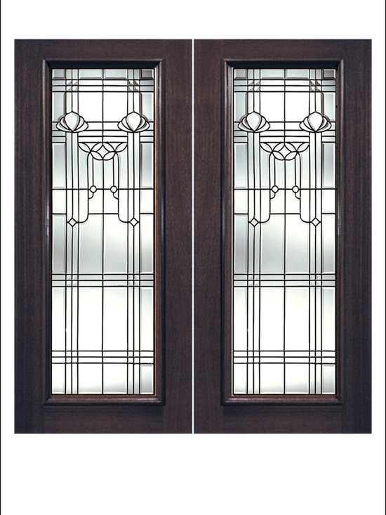 Exterior and Interior Beveled Glass Doors Model # Q -