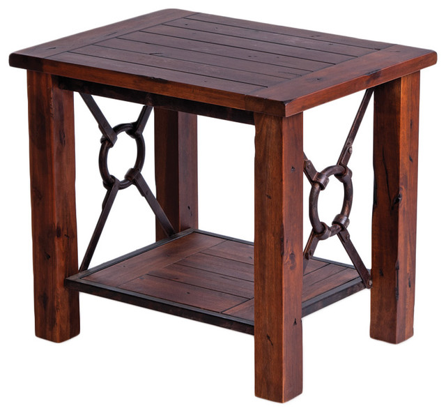 New Rustics Beckett Acacia End Table contemporary-indoor-pub-and-bistro-tables