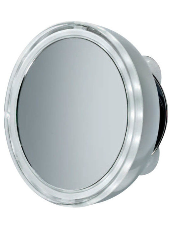 WS Bath Collections - Smile Illuminated Magnifying Mirror 3x with Suction Cup Mounting - Features: