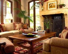 Montecito Italian Living Room mediterranean-living-room