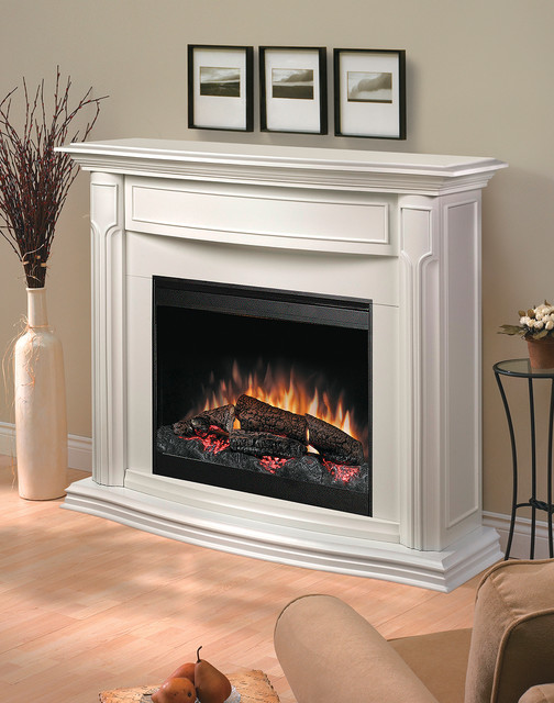 addison white electric fireplace mantel package