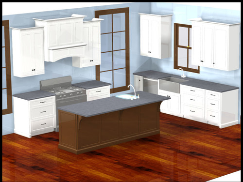 Shaker cabinetry to 9 foot ceiling with crown molding or a for 10 foot ceilings kitchen cabinets