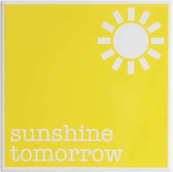Sunshine Tomorrow Decorative Tile by Bianca Hall modern bathroom tile