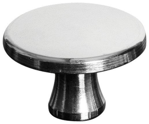Staub Nickel Plated Brass Knob, Large traditional-cabinet-and-drawer-knobs