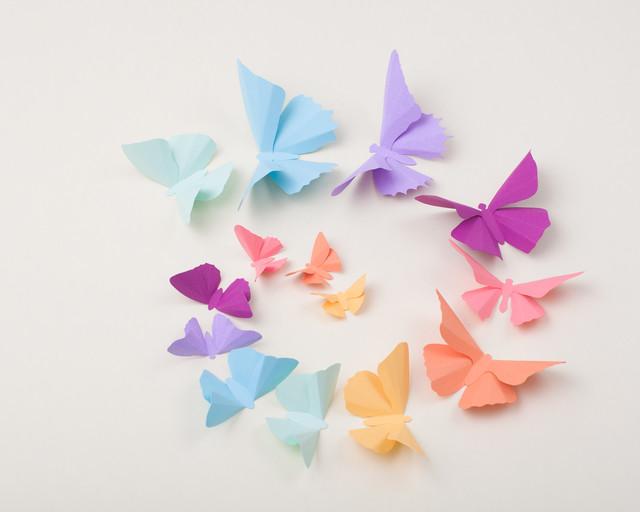 Nursery Wall Decor Butterflies : D butterfly wall art eclectic nursery decor
