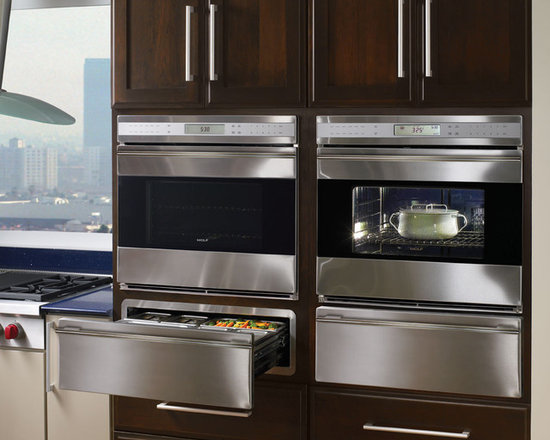 """Wolf E Series 30"""" Single Electric Wall Oven, Stainless Unframed 