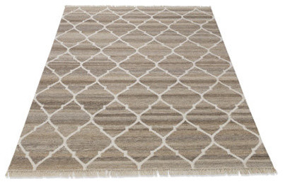 Reversible Tangier Dhurrie Indoor Area Rug - 3' x 5' traditional-rugs