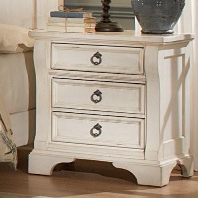 Heirloom 3 Drawer Nightstand Antique White Modern