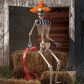 Clown Skeleton - Halloween Decorations and Decor traditional holiday decorations
