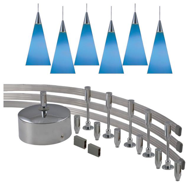 Jesco MK-6P210BU Monorail Kits contemporary-track-lighting