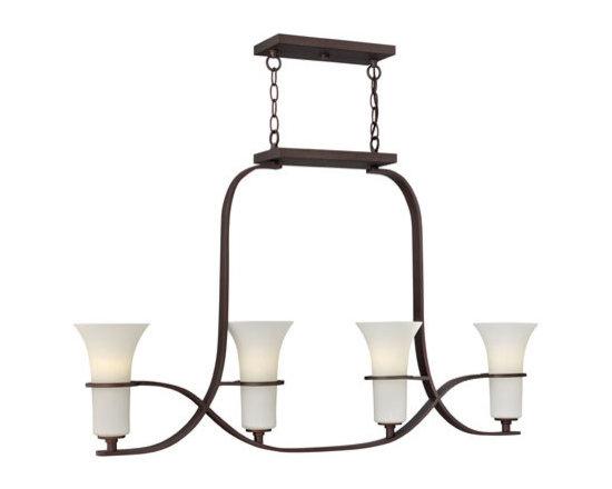Hinkley Lighting 4064VZ 4 Light Linear Chandelier Lauren Collection -