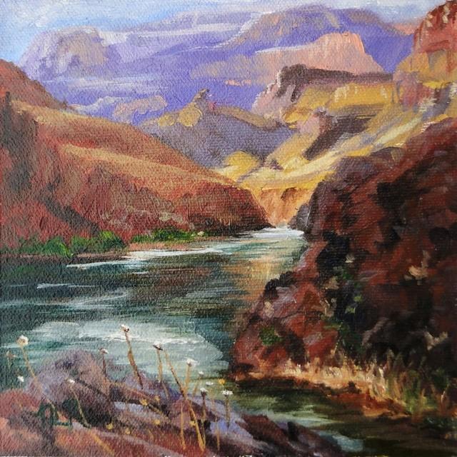 """Grand Canyon - Colorado River"" Artwork contemporary-paintings"