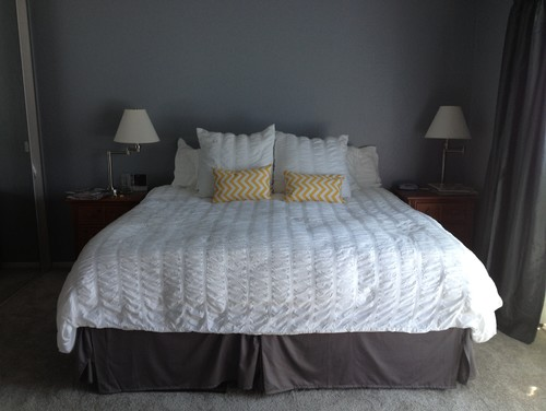 how to dress up my master bedroom gray yellow