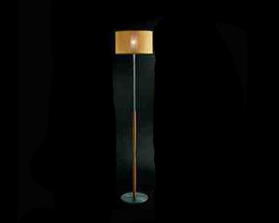 Aba Hi-tech Floor Lamp by Penta Light - Aba Hi-tech Floor Lamp by Penta Light. The Aba Hi-Tech floor lamp was designed by Massimo Belloni for Penta in Italy. This floor lamp presents a wonderfully modern design. It is available in three finishes. The lamps structure is in nickel satin metal or with detail in wood stained wengé or honey color. The shade is in the fabrics of the collection. The inside is pyrex glass. The Aba Hi-Tech floor lamps can have a traditional look with the wooden finish and fabric or the ultra modern look with the satin nickel finish with the white diffuser. Either design adds a richness of light and a sense of style to a room. Aba Hi-tech Floor Lamp by Penta Light are designed by Massimo Belloni.