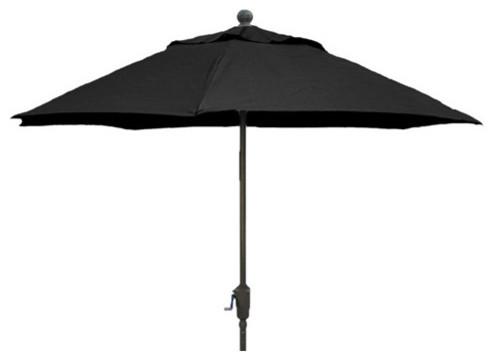 fiberbuilt umbrellas 9 ft patio umbrella in black
