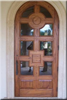 Marvelous Custom Arched Solid Distressed Wood Entry Door 8 Height Door Handles Collection Dhjemzonderlifede