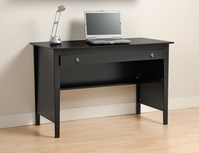prepac contemporary wood laptop desk in black modern desks and hutches