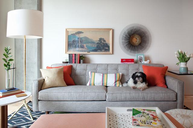 Portland Pearl District Loft eclectic-living-room
