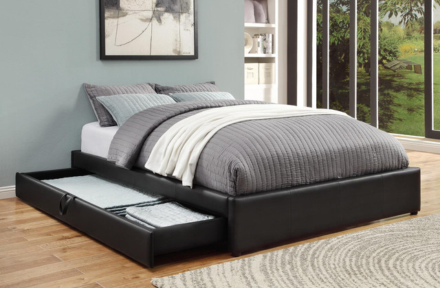 Black queen bed with storage modern beds new york - Modern queen bed with storage ...