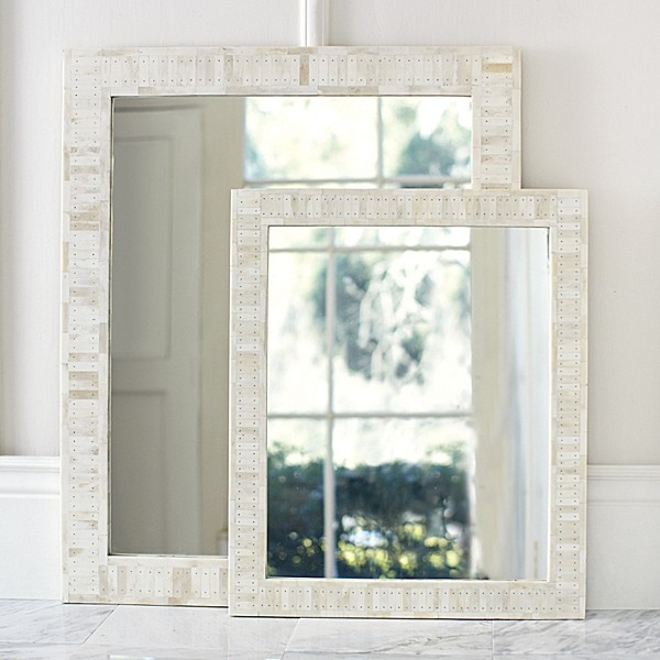 27 In X 27 In Rustic Mother Of Pearl Wall Decor 41121: Cyprus Bone Inlay Mirrors