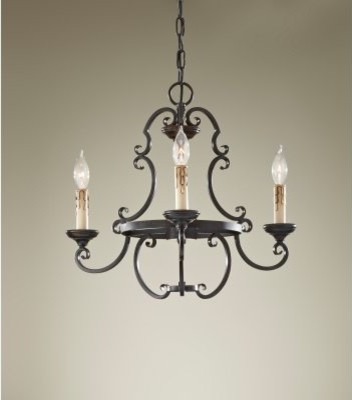 Murray Feiss Barnaby F2716 / 3LBR Chandelier - 20.75W in. - Liberty Bronze modern-chandeliers