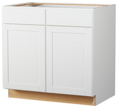 kitchen classics 36 in arcadia white sink base cabinet at