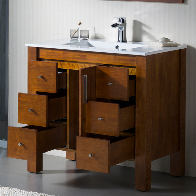 Modern bathroom vanities miami by bathroom place for Bathroom consoles and vanities