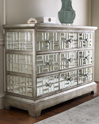 "John-Richard Collection - ""Gatsby"" Mirrored Chest  traditional-dressers"