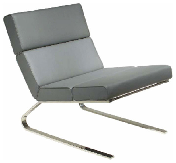 Ethan Lounge Chair Grey Contemporary Armchairs And Accent Chairs by Inmod