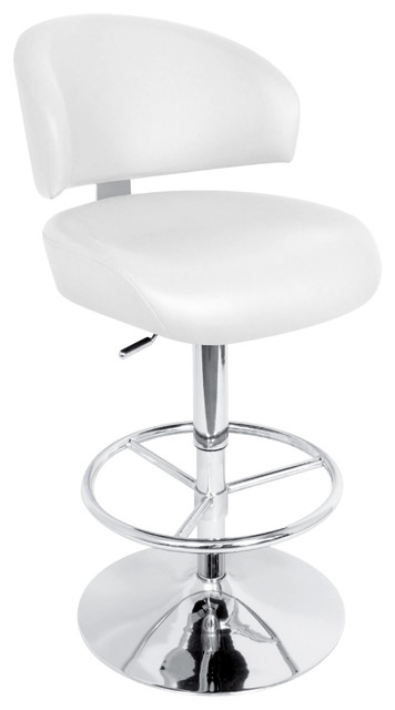 Regent Bar Stool White Contemporary Bar Stools And