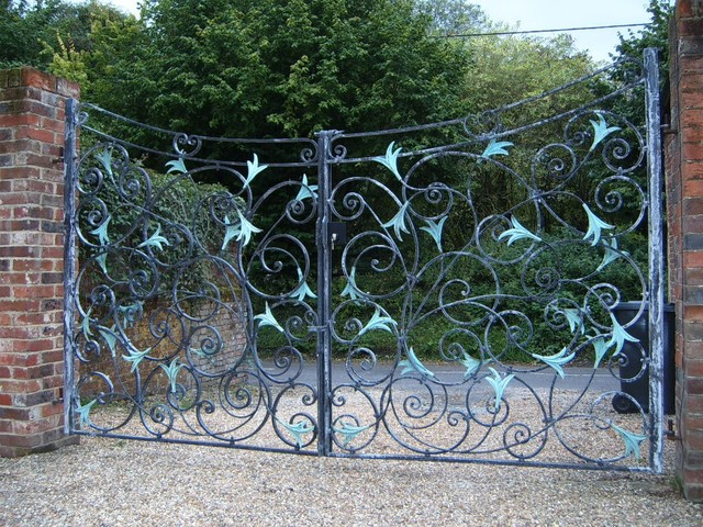 Hand forged garden gate london by adrian payne
