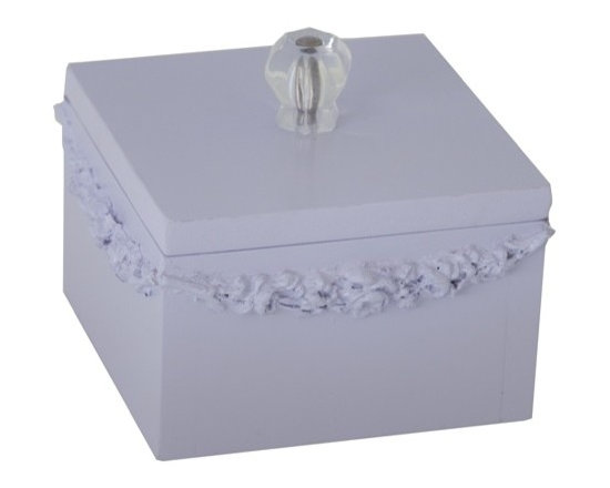 Charn&Co. - Bella Square Jewelry Box - Bella Square Jewelry Box is the perfect accent item for you cottage and shabby chic dcor look