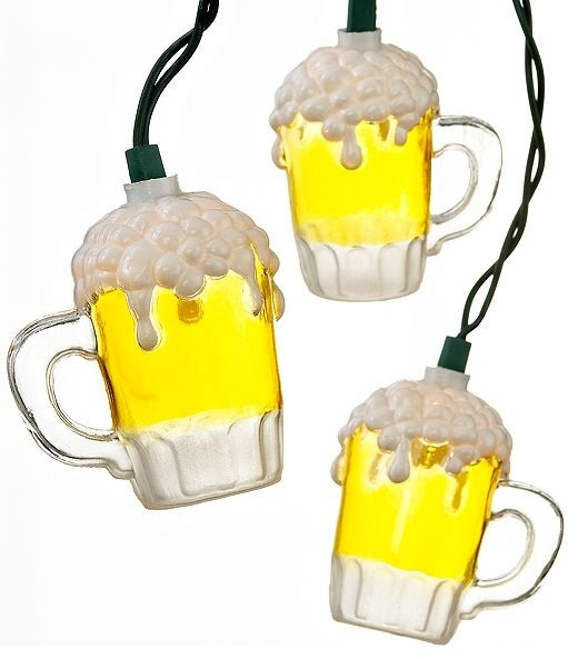 Beer Garden String Lights : Kurt Adler Indoor/Outdoor String Lights, Beer Mugs - Eclectic - Holiday Lighting - by Macy s