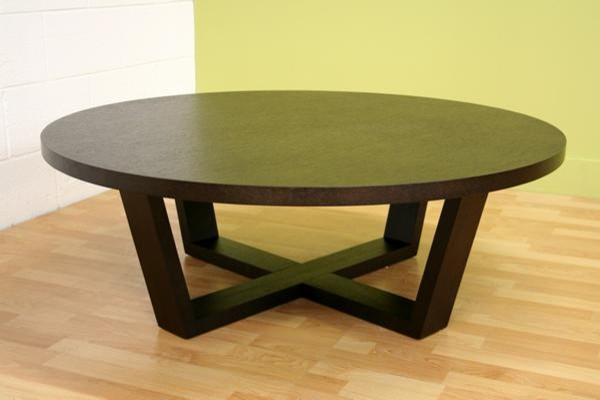 Baxton Studio Ct032 Tilly Black Oak Round Coffee Table