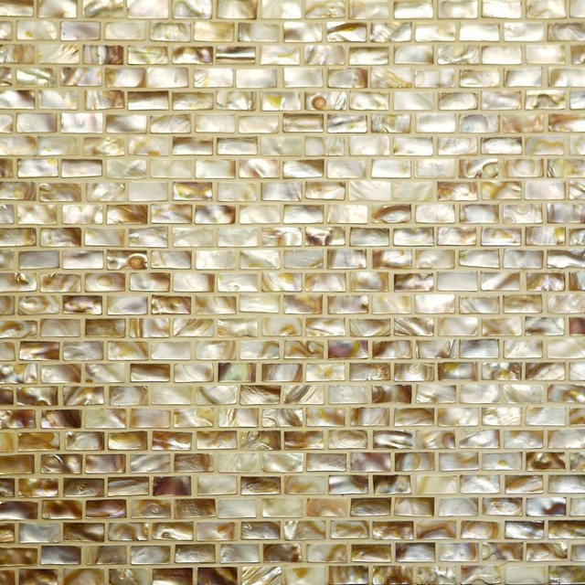 Exotic shell mosaic tropical-accessories-and-decor