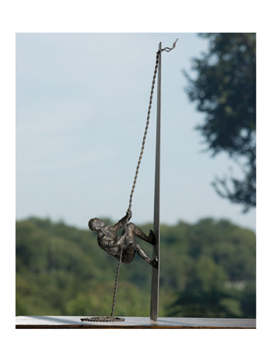 """Climbing Man Tabletop Sculpture - Shipping is included in the price! A beautiful iron sculpture from Global Views. Dimensions: 7""""w x 5.5""""d x 26.5""""h"""