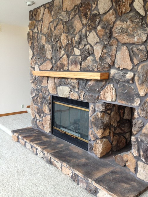 Lava rock fireplace makeover - Bad Fireplace Help