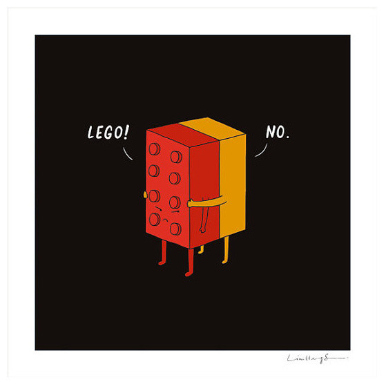 I Will Never Lego Print by Doodling A Smile eclectic artwork