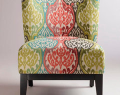 Rio Multicolored Ikat Darby Chair contemporary chairs