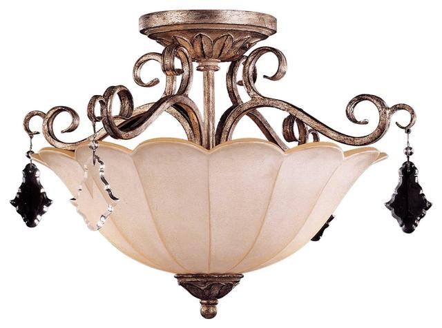 Savoy House Antoinette Semi-Flush flush-mount-ceiling-lighting