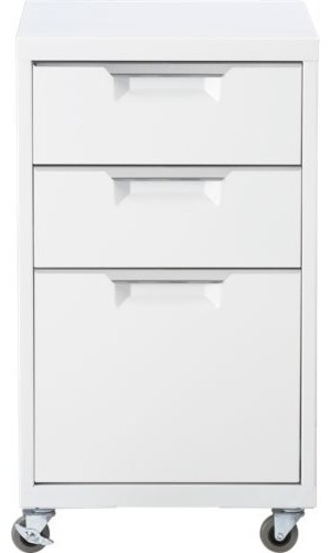 TPS white file cabinet modern filing cabinets and carts